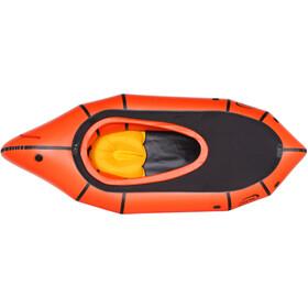 nortik TrekRaft Båd med dæk, orange/sort